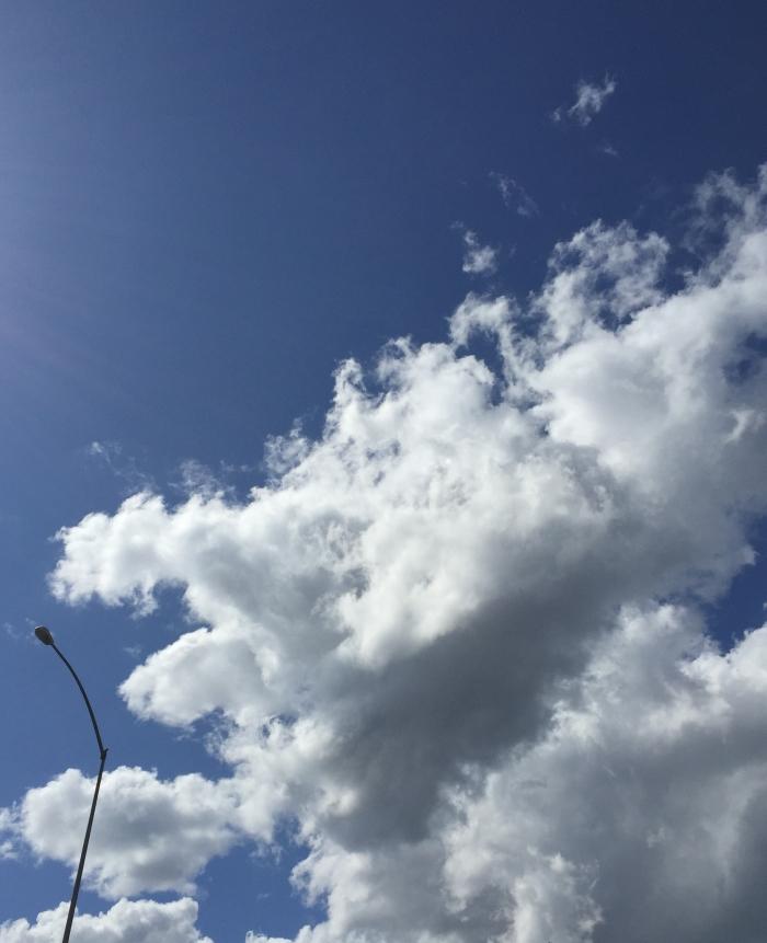 Cumulus clouds in Portland